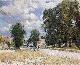 Alfred Sisley | The Road to Marly-le-Roi, 1875 | Giclée Canvas Print