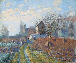 Alfred Sisley | Gelee Blanche - Summer of St. Martin, 1874 | Giclée Canvas Print
