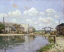Alfred Sisley | The Canal Saint-Martin, Paris, 1872 | Giclée Canvas Print