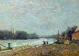 Alfred Sisley | After the Thaw (Seine at Suresnes Bridge), 1880 | Giclée Canvas Print