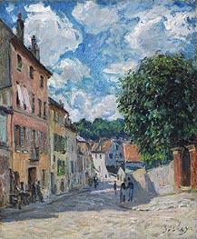 Alfred Sisley | A Street in Port-Marly, 1876 | Giclée Canvas Print