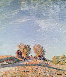Alfred Sisley | Uphill Road in Sunshine, 1891 | Giclée Canvas Print
