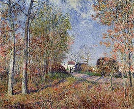 Alfred Sisley | A Corner of the Woods at Sablons (Road to the Golden Woods), 1883 | Giclée Canvas Print