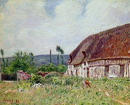 Alfred Sisley | Thatched Cottage in Normandy, 1894 | Giclée Canvas Print
