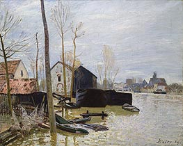 Alfred Sisley | The Floods at Moret, 1889 | Giclée Canvas Print
