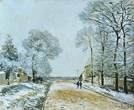 Alfred Sisley | The Road, Snow Effect, Marly-le-Roi, 1876 | Giclée Canvas Print