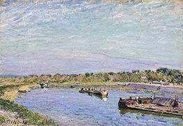 Alfred Sisley | The Port of Saint Mammes, Morning, 1885 | Giclée Canvas Print