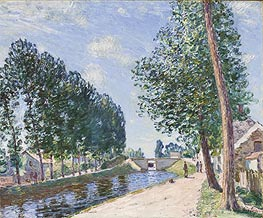 Alfred Sisley | The Loing Canal at Moret, c.1892 | Giclée Canvas Print