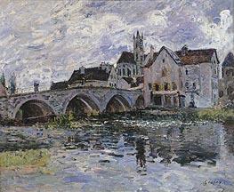 Alfred Sisley | The Bridge of Moret-sur-Loing, 1887 | Giclée Canvas Print