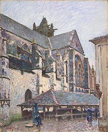Alfred Sisley | The Church at Moret in the Rain, 1894 | Giclée Canvas Print