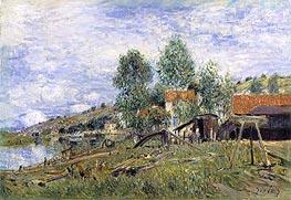 Alfred Sisley | Boatyard at Saint-Mammes, 1886 | Giclée Canvas Print