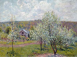 Alfred Sisley | Spring in the Environs of Paris, Apple Blossom, 1879 | Giclée Canvas Print