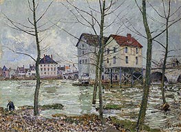 Alfred Sisley | The Mills of Moret - Winter, 1890 | Giclée Canvas Print