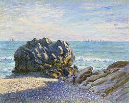 Alfred Sisley | Storr Rock, Lady's Cove, Evening, 1897 | Giclée Canvas Print