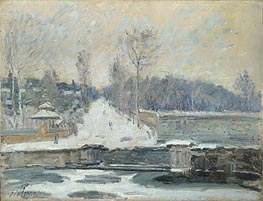 Alfred Sisley | The Watering Place at Marly-le-Roi, c.1875 | Giclée Canvas Print