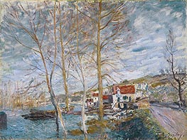 Alfred Sisley | Flood at Moret, 1879 | Giclée Canvas Print
