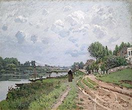 Alfred Sisley | The Bridge at Villeneuve-La-Garenne, 1872 | Giclée Canvas Print