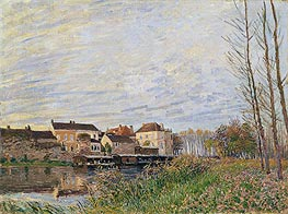 Alfred Sisley | Evening in Moret, End of October, 1888 | Giclée Canvas Print