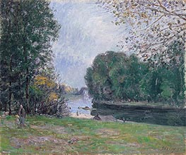 Alfred Sisley | A Turn of the River Loing, Summer, 1896 | Giclée Canvas Print