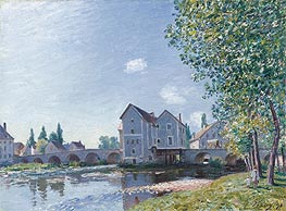 Alfred Sisley | The Bridge at Moret - Morning Effect, 1891 | Giclée Canvas Print