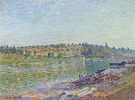 Alfred Sisley | The slopes of the Celle-Sous-Moret, seen from St. Mammes, 1884 | Giclée Canvas Print
