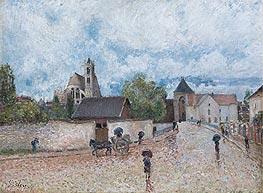 Alfred Sisley | Moret-sur-Loing, Rain, c.1887/88 | Giclée Canvas Print