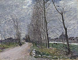 Alfred Sisley | View of Moret-sur-Loing, 1890 | Giclée Canvas Print