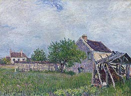 Alfred Sisley | The Old Cottage at Sablons, 1885 | Giclée Canvas Print