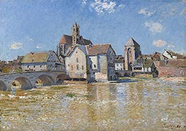 Alfred Sisley | The Bridge at Moret - Morning of April, 1888 | Giclée Canvas Print