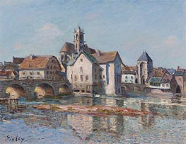 Alfred Sisley | The Bridge at Moret | Giclée Canvas Print