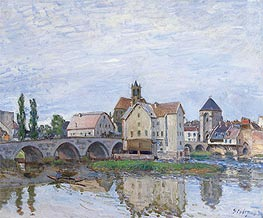 Alfred Sisley | Moret-sur-Loing - Gray Weather | Giclée Canvas Print