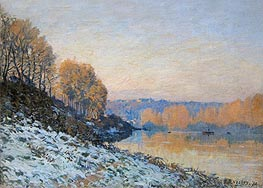 Alfred Sisley | Port Marly, Hoarfrost | Giclée Canvas Print