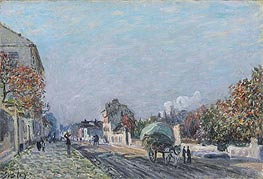 Alfred Sisley | A Street in Marly | Giclée Canvas Print