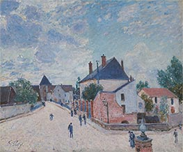 Street in Moret, c.1890 by Alfred Sisley | Giclée Canvas Print