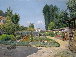 The Kitchen Garden, 1872 by Alfred Sisley | Giclée Canvas Print