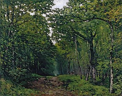 Avenue of Chestnut Trees near La Celle-Saint-Cloud, 1867 | Alfred Sisley | Painting Reproduction