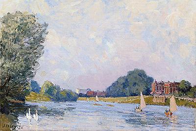 Hampton Court, 1874 | Alfred Sisley | Painting Reproduction