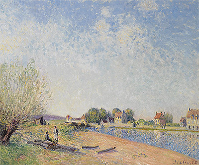 The Canal of Loing at Saint-Mammes, 1885   Alfred Sisley   Painting Reproduction