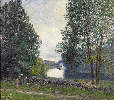 Banks of the Loing, 1896 | Alfred Sisley | Painting Reproduction