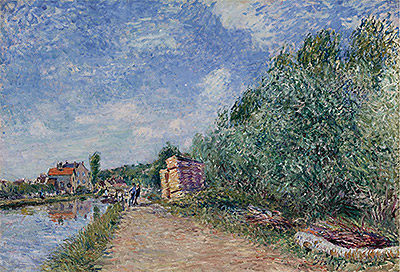 Loing Canal - Towpath, 1882 | Alfred Sisley | Painting Reproduction