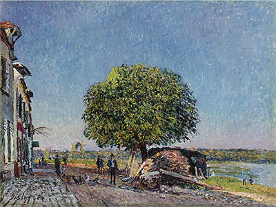 The Chestnut in St. Mammès, 1880 | Alfred Sisley | Painting Reproduction