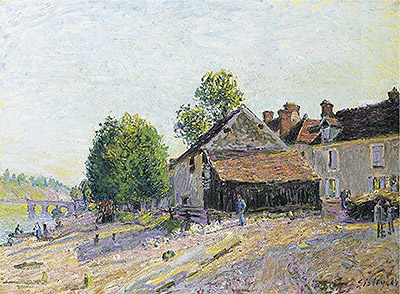 Landscape near Moret, 1884 | Alfred Sisley | Painting Reproduction