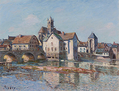 The Bridge at Moret, 1892 | Alfred Sisley | Painting Reproduction