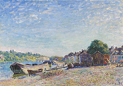 The Banks of the Loing at Saint-Mammès, 1885 | Alfred Sisley | Painting Reproduction