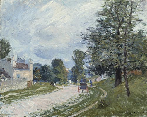 A Turn in the Road, 1873 | Alfred Sisley | Painting Reproduction