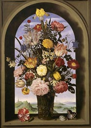 Ambrosius Bosschaert | Bouquet in an Arched Window, c.1618 | Giclée Canvas Print