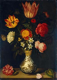 Ambrosius Bosschaert | Still Life with Flowers in a Wan-Li Vase, 1619 | Giclée Canvas Print