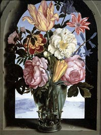Ambrosius Bosschaert | Still Life of Flowers in a Drinking Glass, undated | Giclée Canvas Print