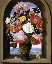 Ambrosius Bosschaert | Still Life with Roses in a Berkemeijer Glass, undated | Giclée Canvas Print