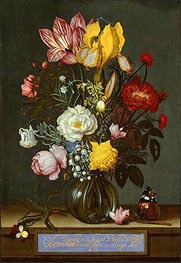Ambrosius Bosschaert | Bouquet of Flowers in a Glass Vase, 1621 | Giclée Canvas Print